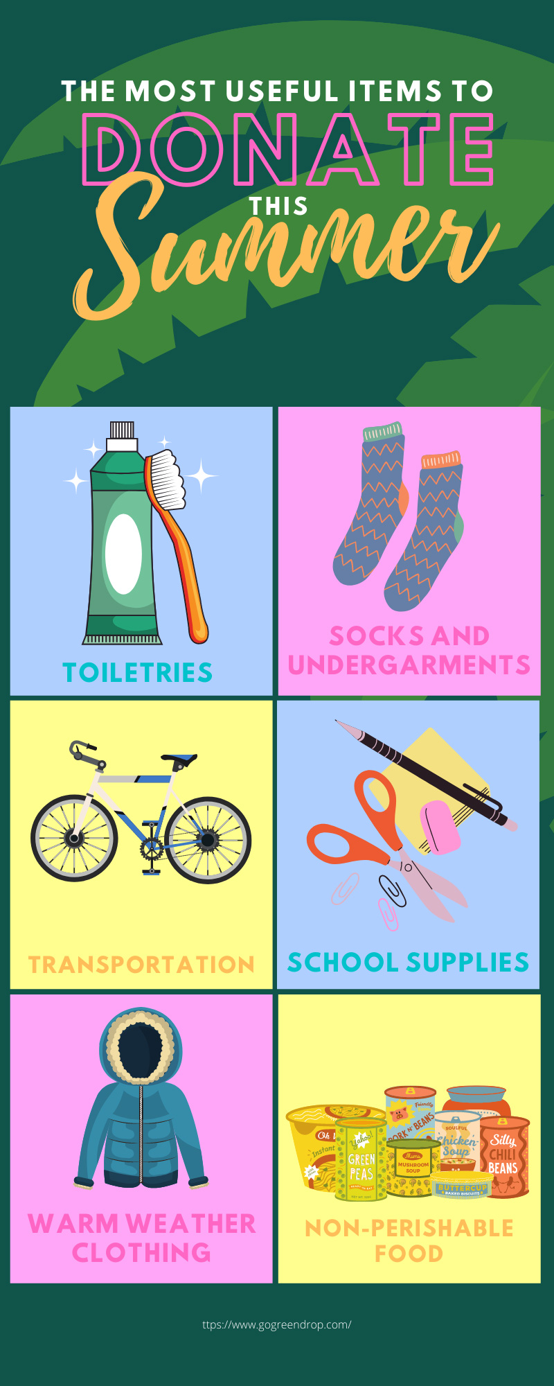 The Most Useful Items To Donate in the Summer